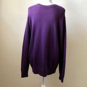 St. John's Bay Purple Crewneck Cotton Sweater